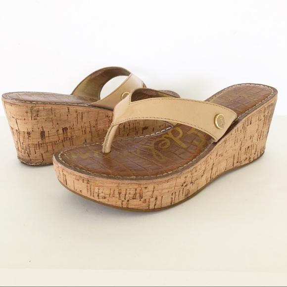 b54cdec5327625 Sam Edelman Romy Cork Wedge Sandals 6M. M 5c734ad6f63eea08be548491